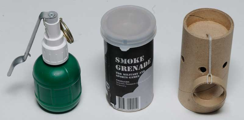 wasp training and smoke grenades