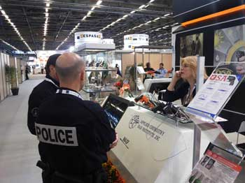 milipol Paris 2013 Police at Wasp stand